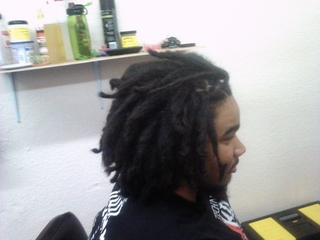 backcombing dreads I did